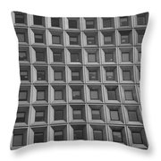 More Windows In Black And White Throw Pillow
