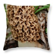 Morel-ly Awesome Throw Pillow