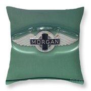 Morgan Car Emblem Throw Pillow