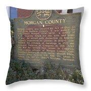 Morgan County Throw Pillow