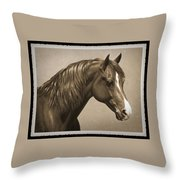 Morgan Horse Old Photo Fx Throw Pillow