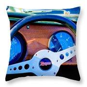 Morgan Steering Wheel Throw Pillow