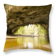 Moria Gate Arch In Opara Basin On South Island In Nz Throw Pillow