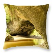 Moria Gate Arch In Opara Basin On South Island Of Nz Throw Pillow