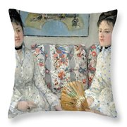 Morisot's The Sisters Throw Pillow