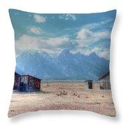Morman Row Throw Pillow