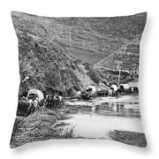 Mormon Emigrant Conestoga Caravan 1879 - To Utah Throw Pillow