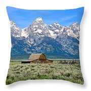 Mormon Row Throw Pillow