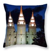 Mormon Temple Lds Utah Throw Pillow
