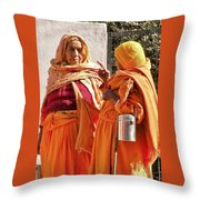 An Early Morning Dissertation - India Throw Pillow
