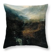 Morning Amongst The Coniston Fells Throw Pillow