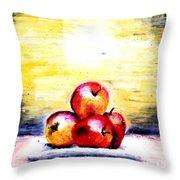 Morning Apples Throw Pillow