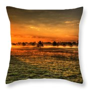 Morning Arrives At Foxfire  Throw Pillow