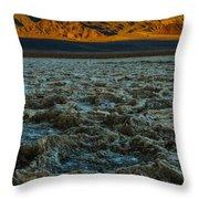 Morning At Badwater Throw Pillow