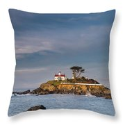 Morning At Battery Point Lighthouse Throw Pillow