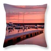 Morning At Chatfield Marina Throw Pillow