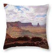 Morning At False Kiva Throw Pillow