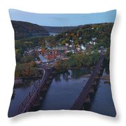Morning At Harpers Ferry Throw Pillow
