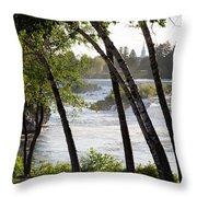 Morning At Idaho Falls Throw Pillow
