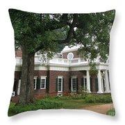 Morning At Monticello Throw Pillow