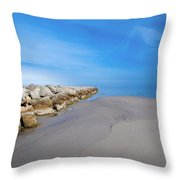 Morning At The Jetty Throw Pillow