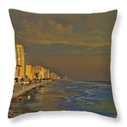 Morning Beach Walk Throw Pillow