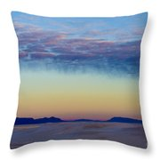 Morning Begins In White Sands Throw Pillow by Sandra Bronstein