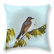 Morning Bird Throw Pillow