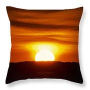 Morning Blaze Throw Pillow