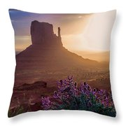 Morning Bloom Throw Pillow