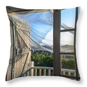 Morning Breeze At The Beach House Throw Pillow by Diane Diederich