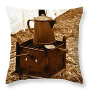 Morning Brew Throw Pillow