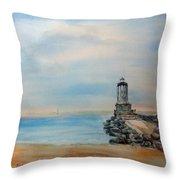 Angel's Gate Lighthouse Throw Pillow
