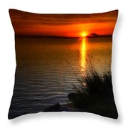 Morning By The Shore Throw Pillow