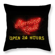 Morning Call Neon - New Orleans La Throw Pillow