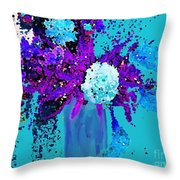 Morning Callas And Orchids  Throw Pillow
