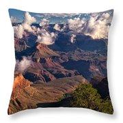 Morning Clouds At El Tovar Throw Pillow
