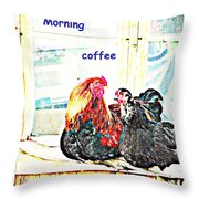 I Love My Morning Coffee Time With My Darling  Throw Pillow