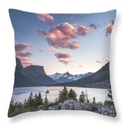 Morning Colors On The Lake Throw Pillow