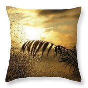 Morning Dew Screen Throw Pillow