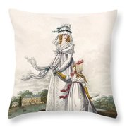 Morning Dresses, Fig. 63 & Fig. 64 Throw Pillow