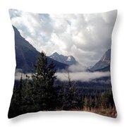 Morning East Glacier Park Throw Pillow