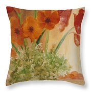 Morning Flowers Throw Pillow