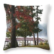 Morning Fog At Shangra-la Throw Pillow