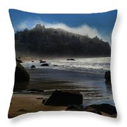 Morning Fog Burn Throw Pillow