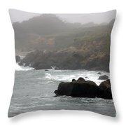 Morning Fog - Pacific Coast Highway No. 2 Throw Pillow