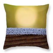 Morning Frost Abstract Throw Pillow