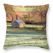 Morning Frost Throw Pillow