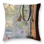 Morning Glory Dreams Throw Pillow