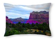 Glorious Morning In Sedona Throw Pillow
